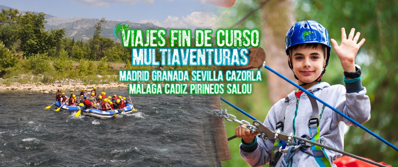 VIAJES FIN DE CURSO MULTIAVENTURAS ANDALUSCAMP
